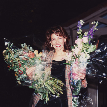 Sheila after a concert of her vocal pieces in Beverly Hills.